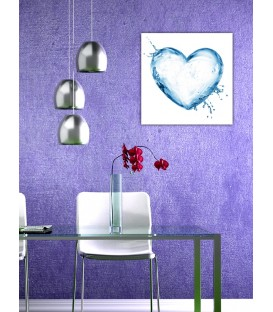 Water Heart Canvas Tablo