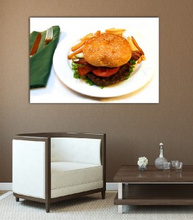 Burger Canvas Tablosu