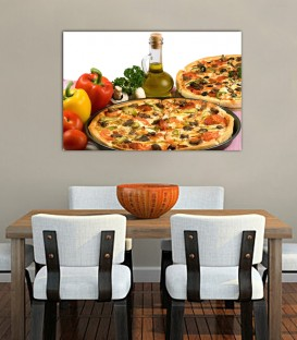 Pizza Canvas Tablosu