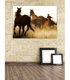 Horses Running Canvas Tablo
