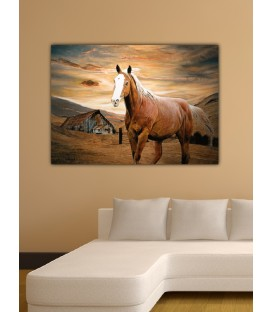 Runaway Horse Canvas Tablo