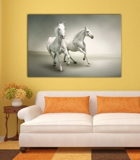 Silver Horse Canvas Tablo