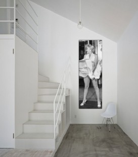 Dikey Marilyn Monroe Canvas Tablo