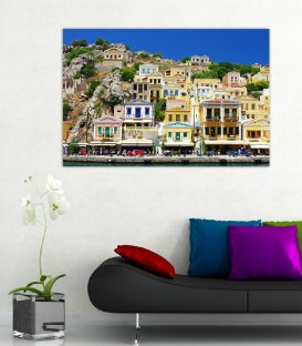 Greece Canvas Tablo