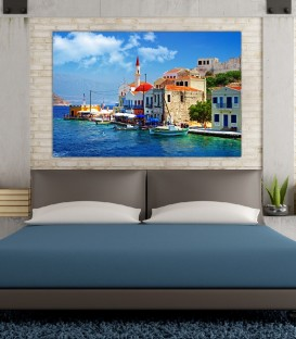 Yunanistan Canvas Tablo