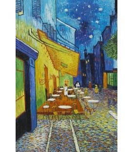 Cafe Terrace at Night - Vincent Van Gogh Kanvas Tablo