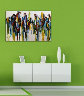 Horses of Colors Canvas Tablo